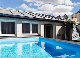 1K Paris hotel swimming pool