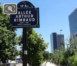 Allee Arthur Rimbaud Signpost
