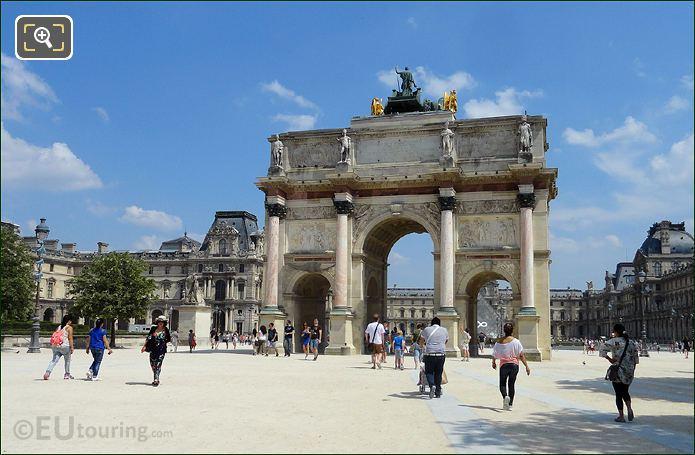 Arc de Triomphe Du Carrousel With The Louvre Museum