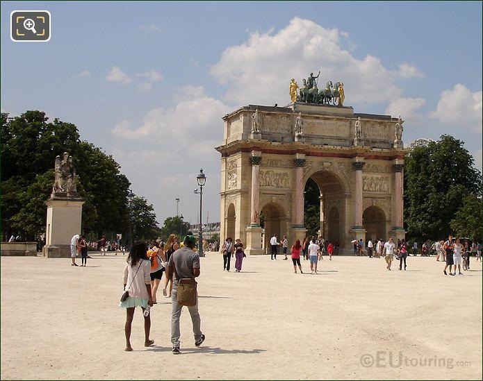 Arc De Triomphe Du Carrousel In Place Du Carrousel