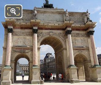 The Arc De Triomphe Du Carrousel Back Section