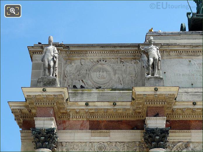 Arc De Triomphe Du Carrousel Stone Statues Of Soldiers