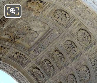 Central Arch On The Arc De Triomphe Du Carrousel