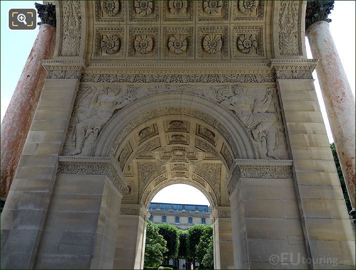 The Arc De Triomphe Du Carrousel Cental Arch
