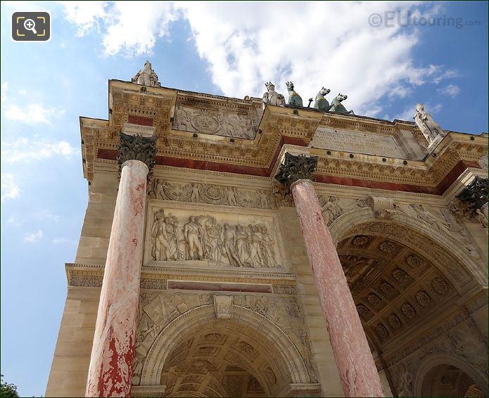 Marble Columns On Arc De Triomphe Du Carrousel