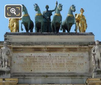 Quadriga Statues On The Arc De Triomphe Du Carrousel