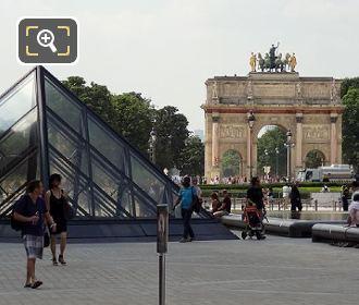 Arc De Triomphe Du Carrousel And Tuileries Gardens