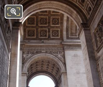 Internal Arches On The Arch De Triomphe
