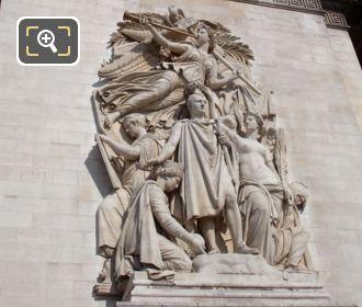 Triomphe De 1810 On The Arch De Triomphe