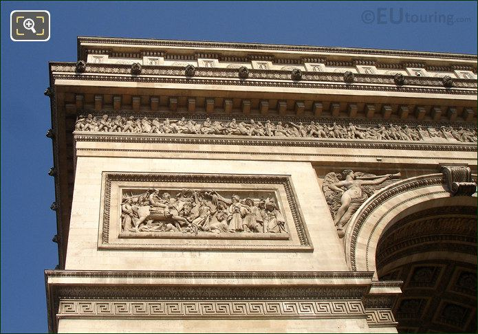 Sculpted Friezes On The Arch De Triomphe