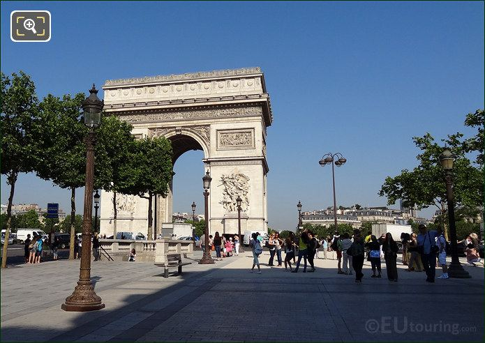 Arch De Triomphe From The Champs Elysees