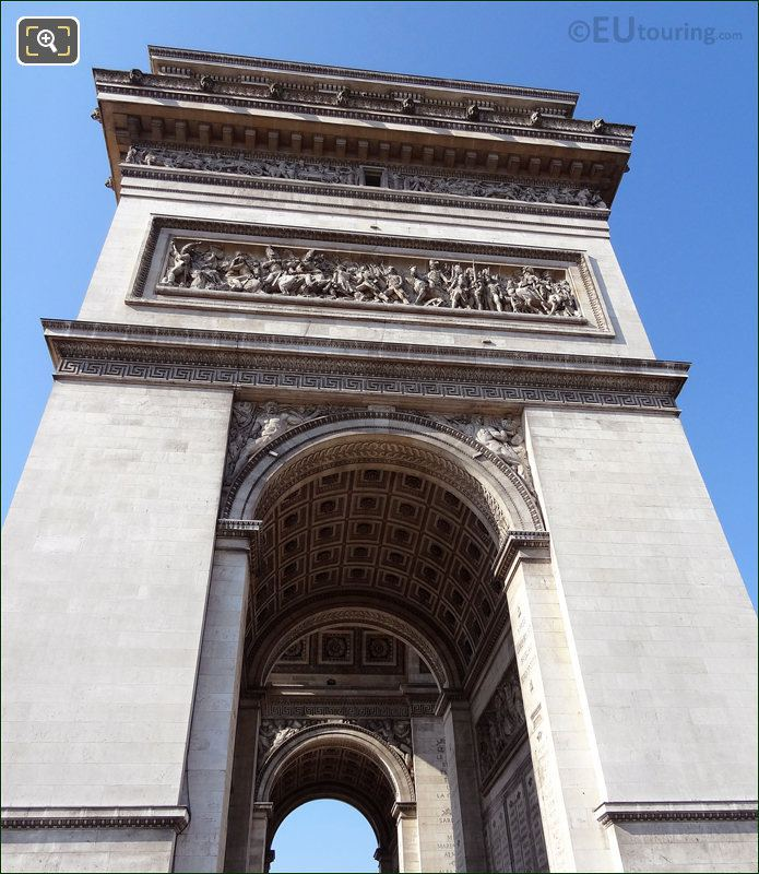 Side Of The Arch De Triomphe