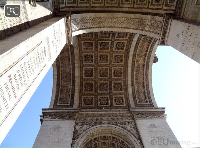 Arches Inside The Arch De Triomphe
