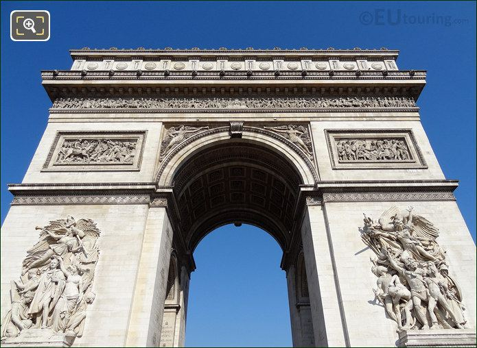 Sculpted Statues On The Arch De Triomphe