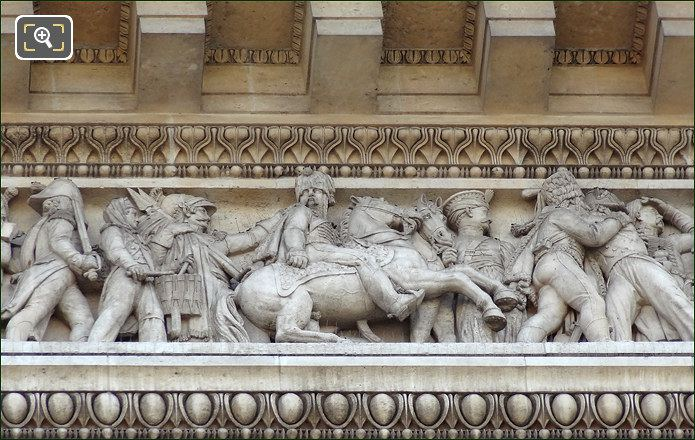 Pediment Frieze At The Arch De Triomphe