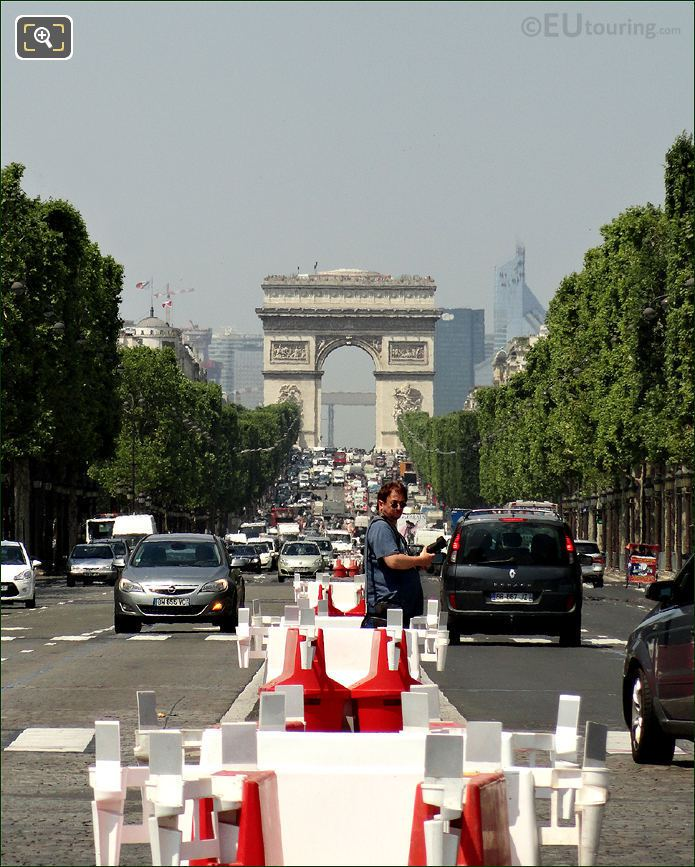 Photo Of The Avenue Des Champs Elysees In Paris
