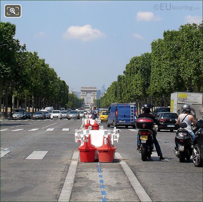 Looking Down Avenue Des Champs Elysees