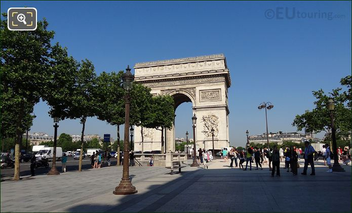 Arc De Triomphe At The Champs Elysees
