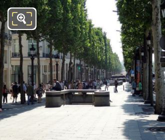 Champs Elysees Sidewalk