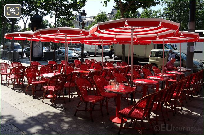 Restaurant Tables On Avenue Des Champs Elysees