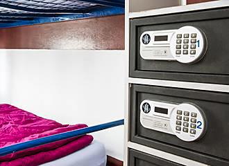 Bastille Hostel electronic safes