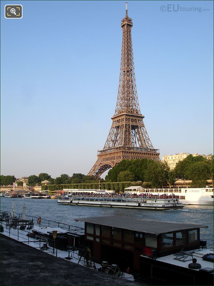 Bateaux Mouches Boat At The Eiffel Tower