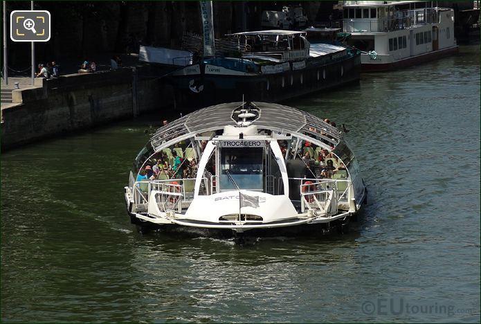 Photo Of The Batobus Water Bus In Paris