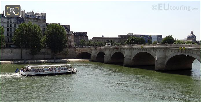 Batobus Trimaran Boat On The River Seine