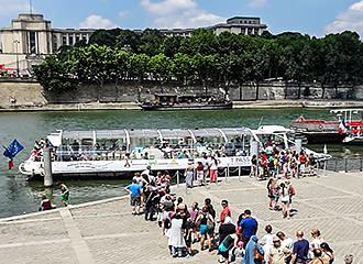 Batobus On River Seine