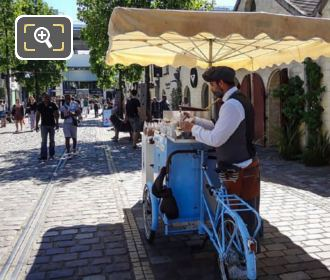 Bercy Village Bicycle Vending Cart