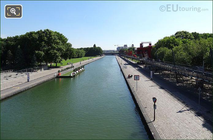 Canal De l Ourcq Aerial View