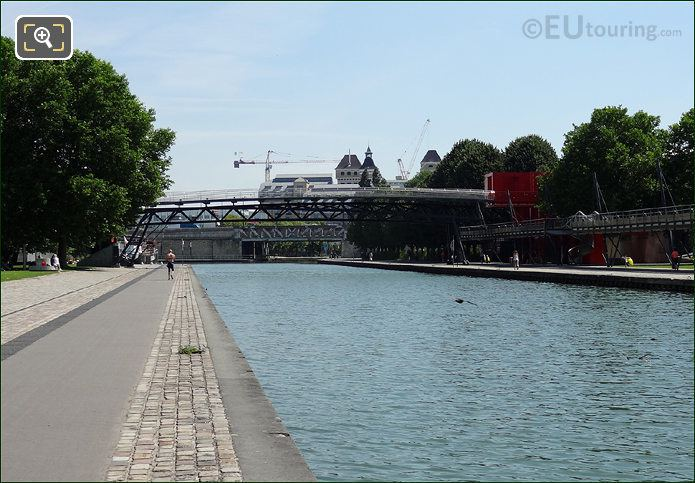 Canal De l Ourcq Flowing Towards Peripherique