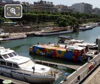 Canal Saint-Martin Colourful Boat