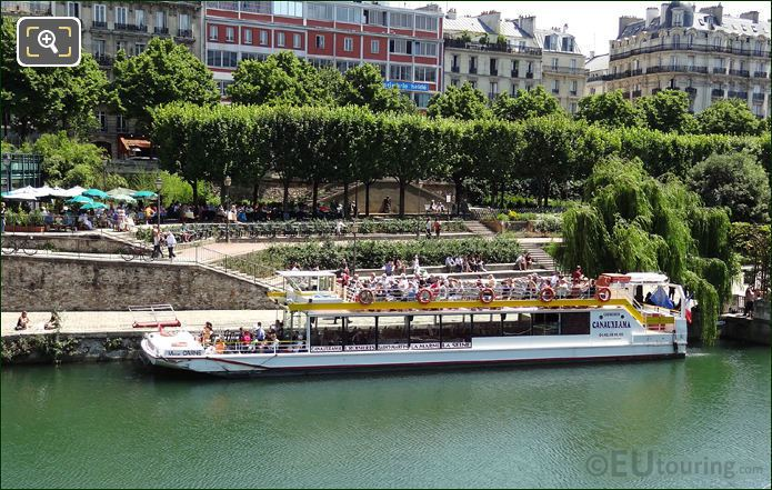 Canauxrama Croisieres Boat On Canal Saint-Martin