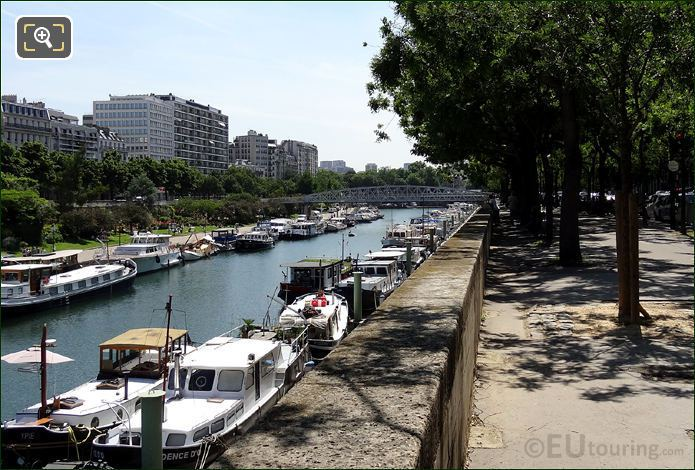 Footpath Next To Canal Saint-Martin