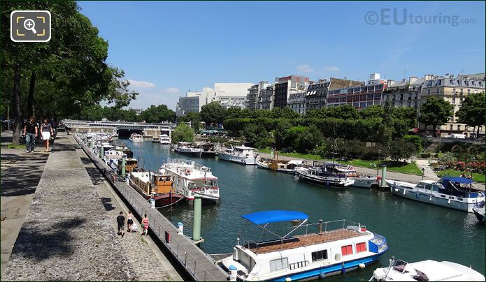 Boats Moored On Canal Saint-Martin