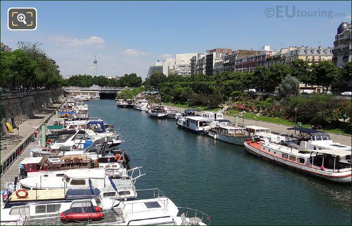 Canal Saint-Martin Bastilles Column