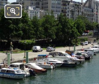 Pleasure Boats Canal Saint-Martin Paris