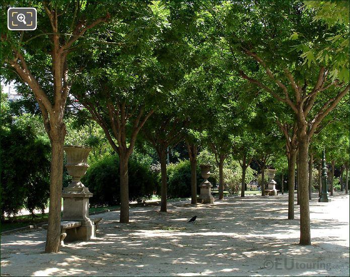 Champ De Mars Stone Park Benches