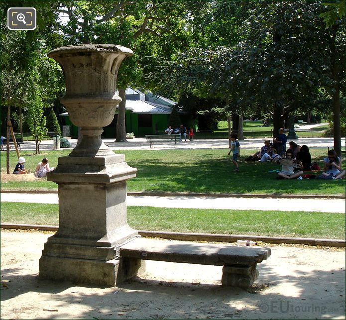 Stone park Benches In The Champ De Mars