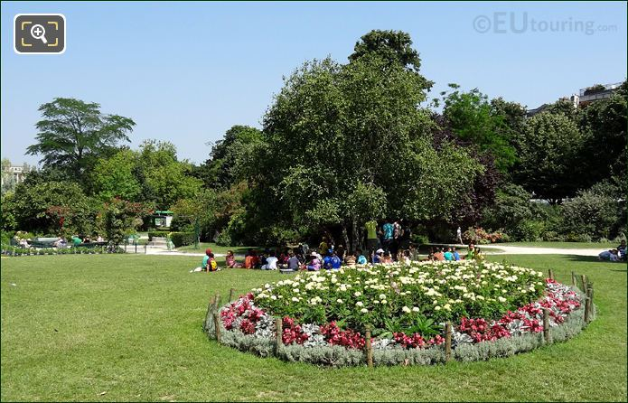 Trees And Flowerbeds In The Champ De Mars