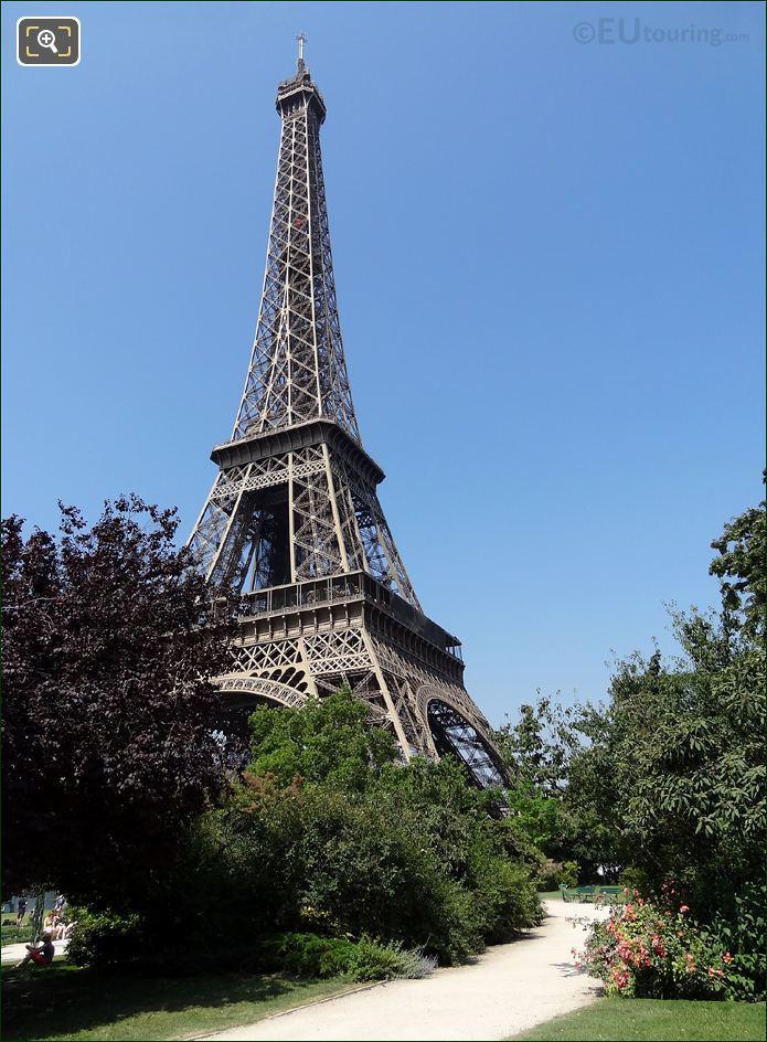 Photo Of The Champ De Mars Park In Paris