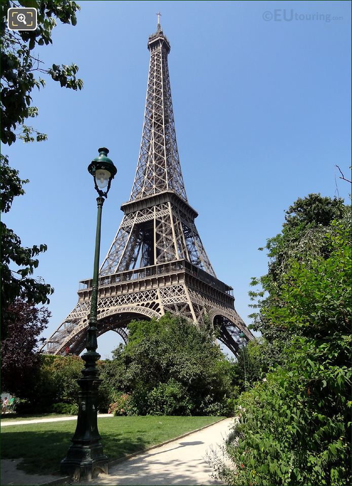 Photo Of The Champ De Mars Park In Paris