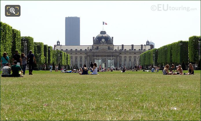 Ecole Militaire At The Bottom Of The Champ De Mars