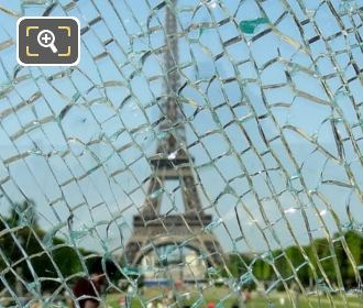 View Through Broken Glass At The Wall For Peace
