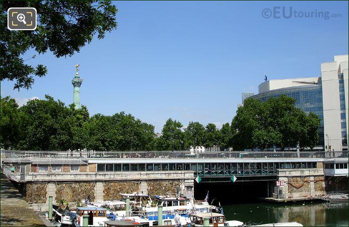 Colonne De Juillet Canal Saint-Martin