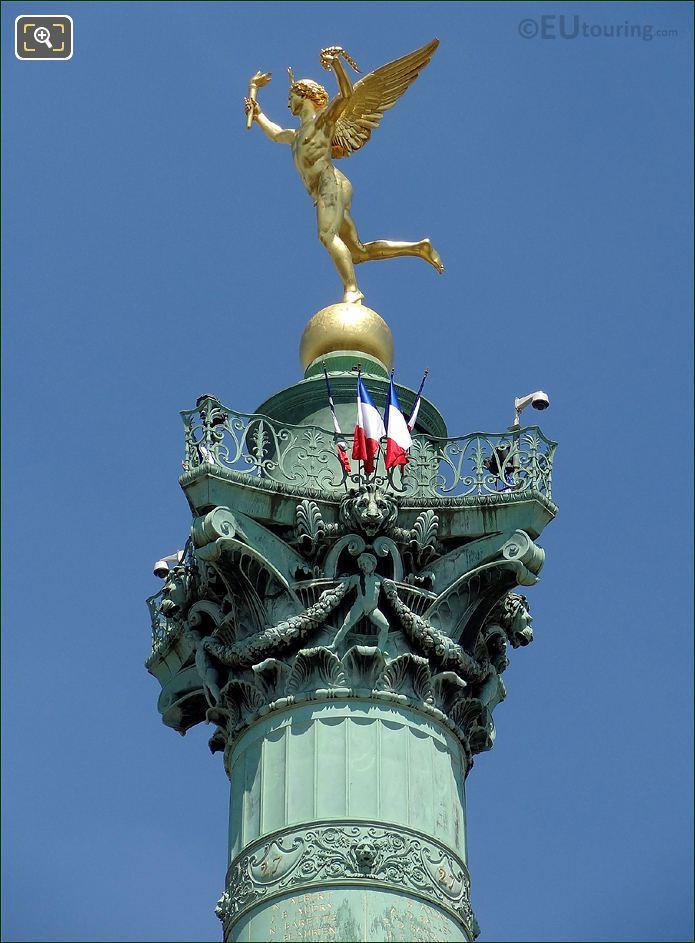 Genie De La Liberte Statue