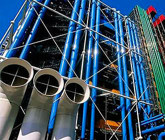 Building Of The Pompidou Centre