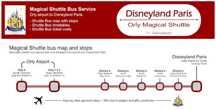 Magical Shuttle Bus Orly To Disneyland Paris