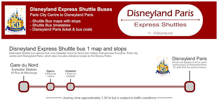 Disneyland Express Bus To Disneyland Paris